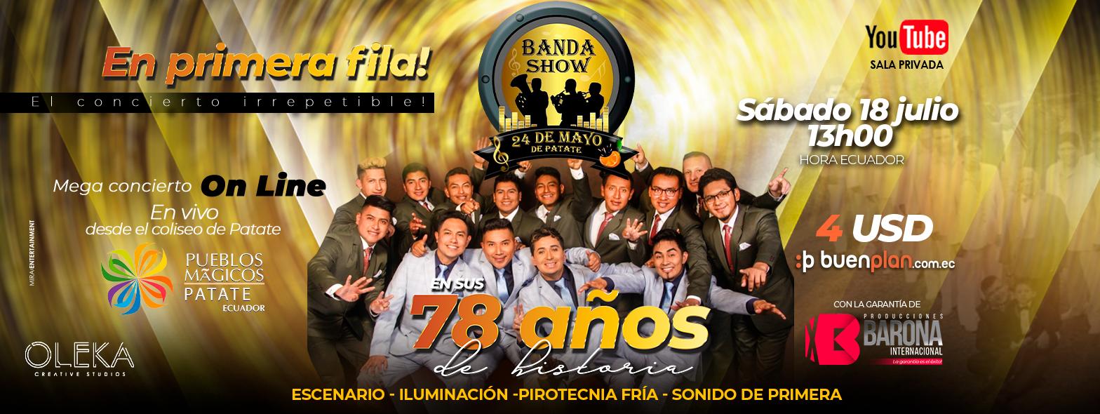 EL CONCIERTO IRREPETIBLE • BANDA SHOW 24 DE MAYO • 78 AÑOS DE HISTORIA. en , BuenPlan